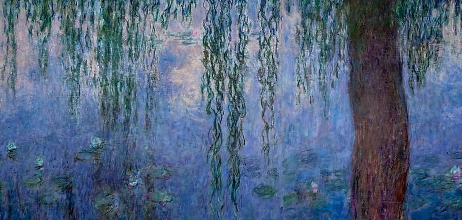 Claude Monet's water lilies at the Musee de L'Orangerie in Paris