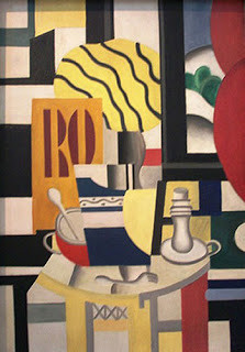 the Nature Mort au Chandelier, Fernand Léger, 1922, stolen in 2010 from the Musee d'art Moderne
