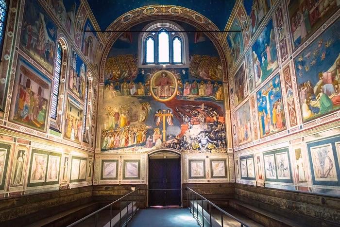 Giotto frescos in the Scrovegni Chapel