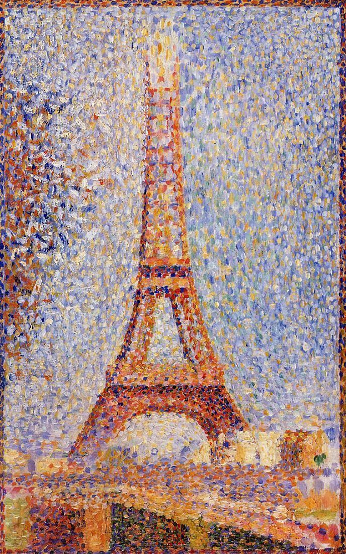 Seurat, Eiffel Tower, 1889