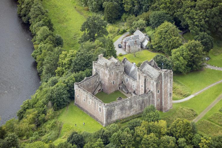 Doune Castle in Scotland, Image source Andrew Shiva