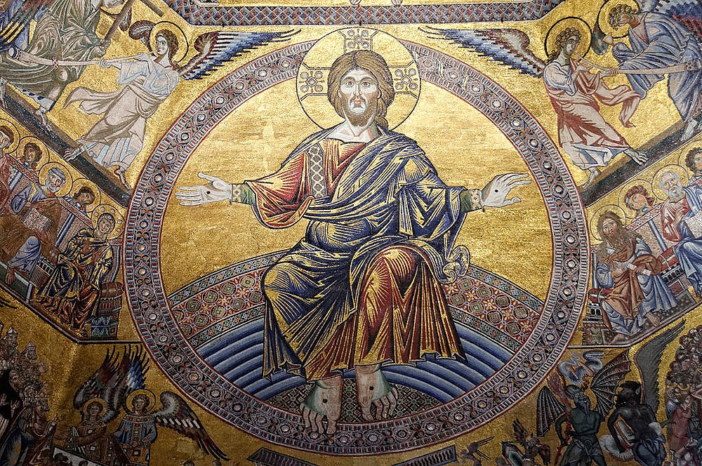 beautiful mosaics in the Florence Baptistery