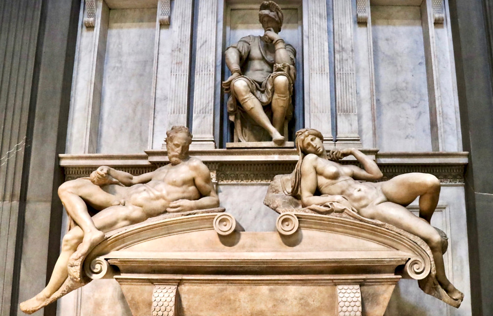 Giuliano's tomb by Michelangelo in the Medici Chapel of the Basilica of San Lorenzo