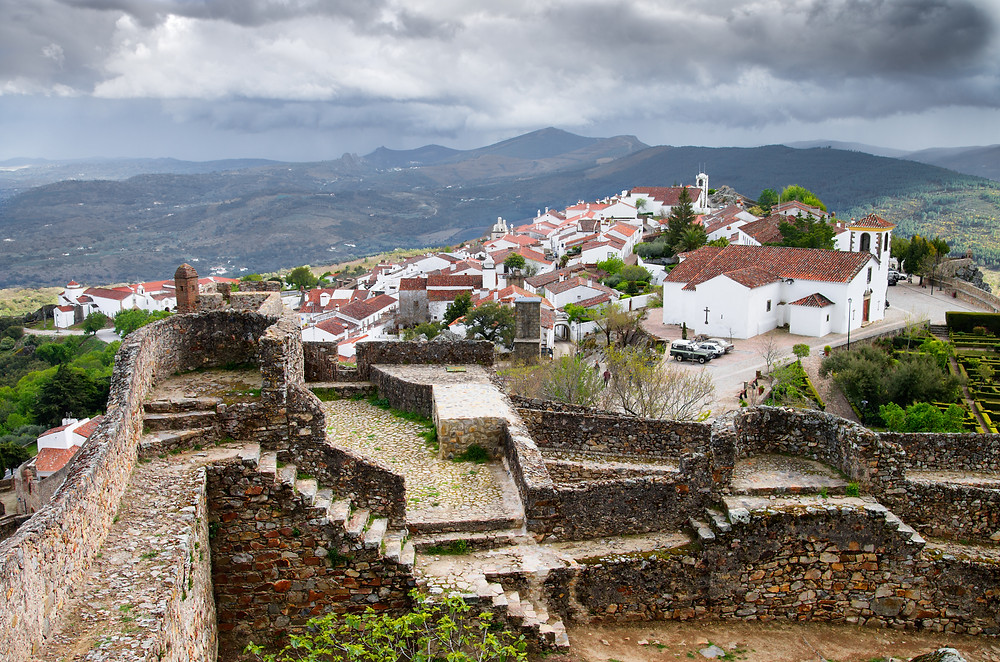 historic walled city of Marvao Portugal