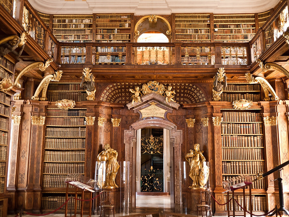 the Baroque library of Melk Abbey