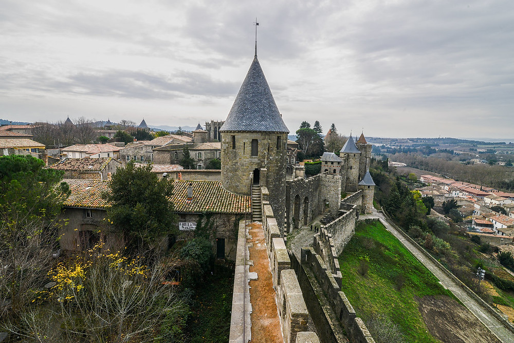 the Chateau Comtal in Carcassonne