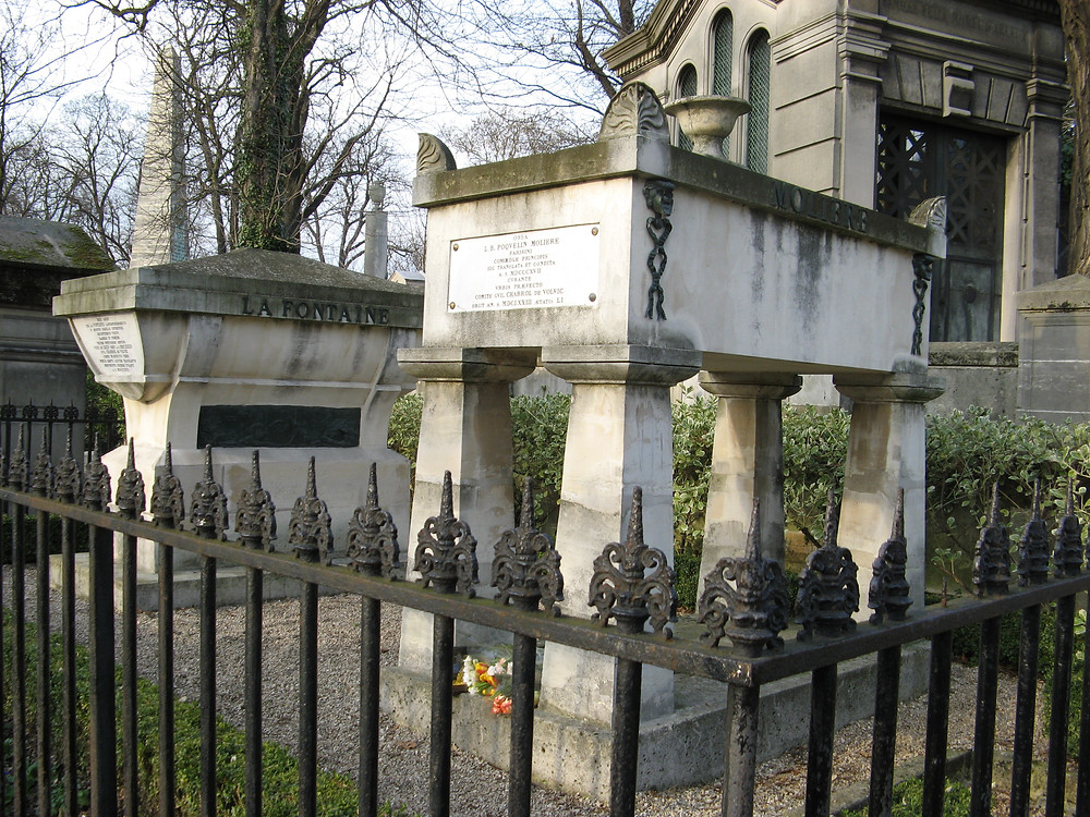 the grave of Moliere