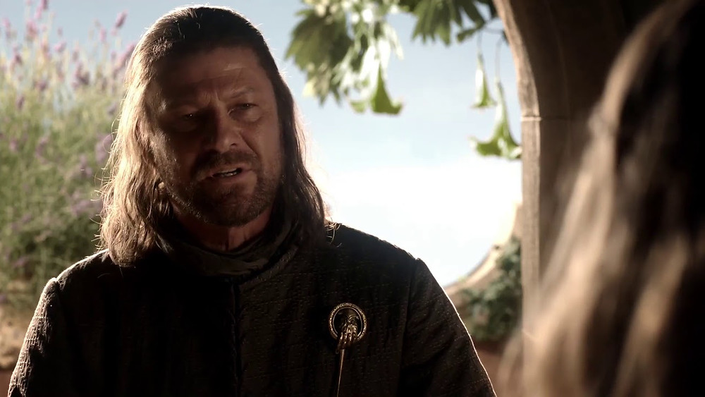 """Ned Stark tells Cersei that he was """"trained to kill my enemies"""""""