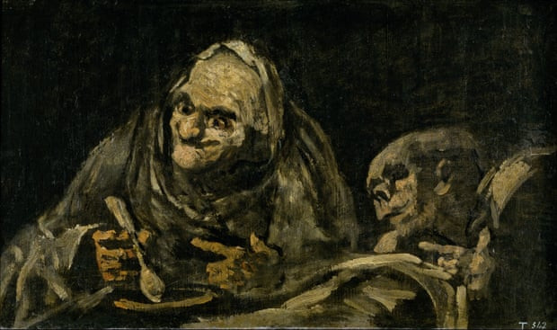 Fransisco Goya, Two Old men Eating Soup, 1819-23