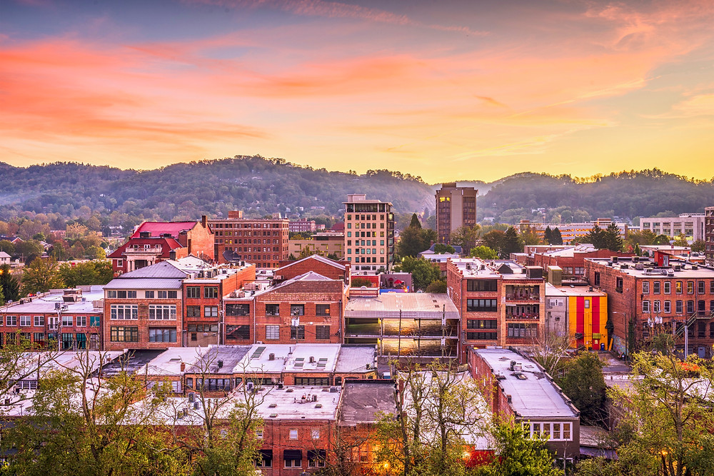 skyline of Asheville NC