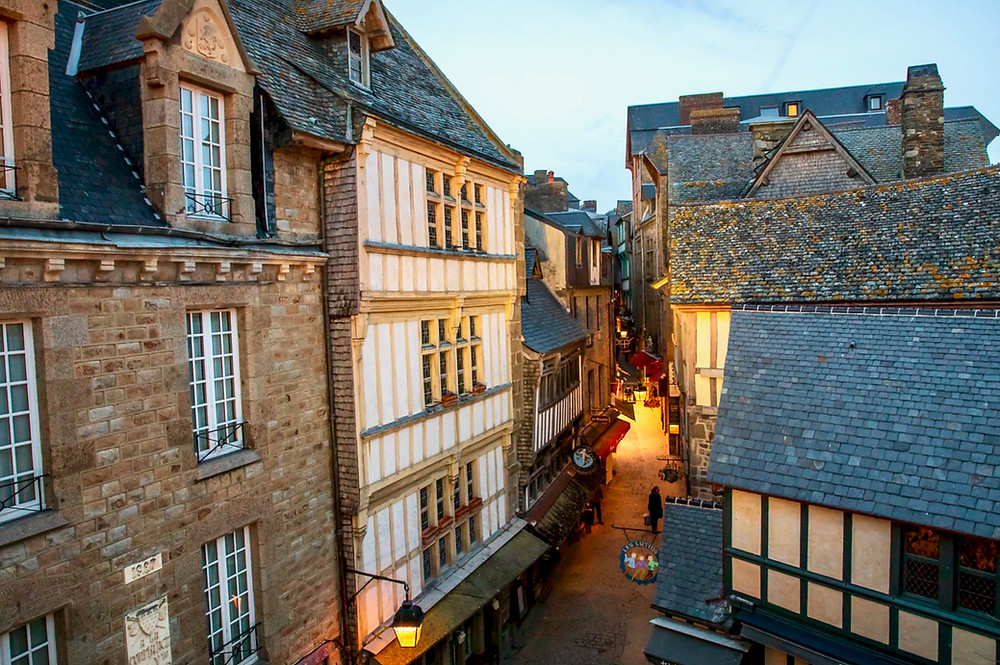 Grande Rue in Mont Saint-MIchel