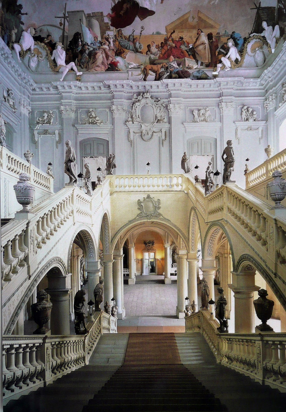the Treppenhaus, or grand staircase, at the Wurzburg Residence