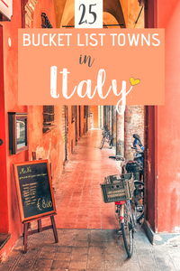 Beautiful Bucket List Towns in italy