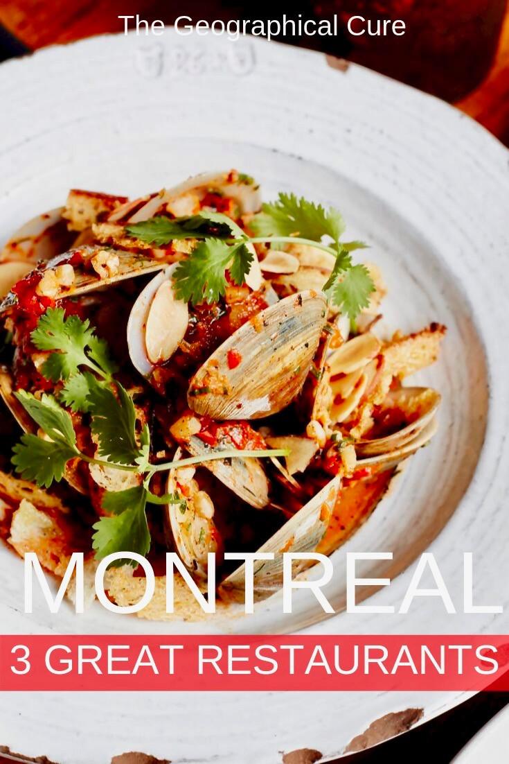 3 amazing restaurants for dinner in Montreal Canada