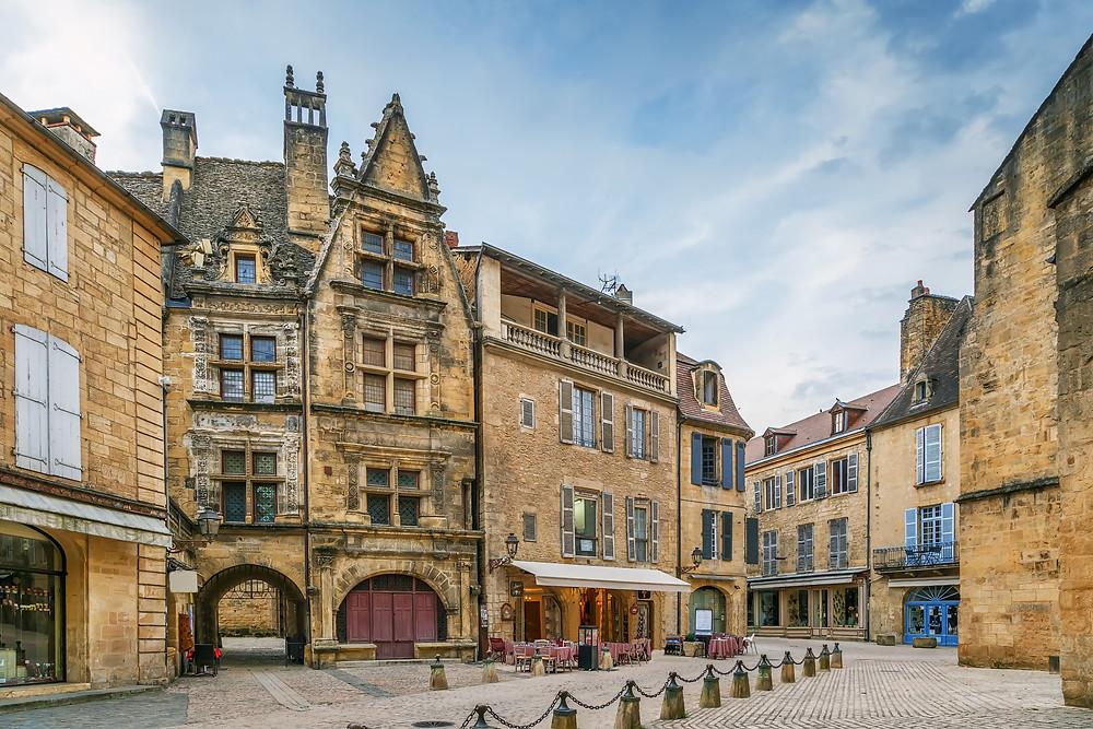 Square in Sarlat France, in the Dordogne region