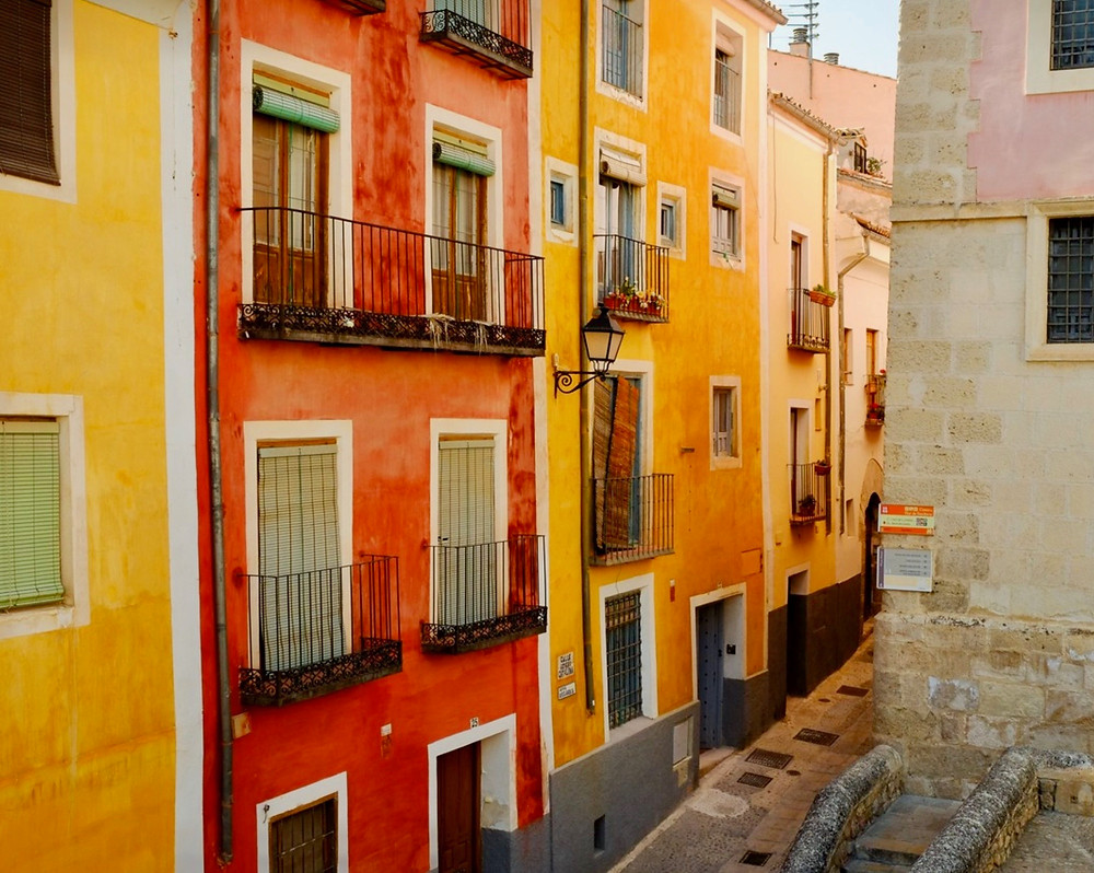 colorful homes in Cuenca