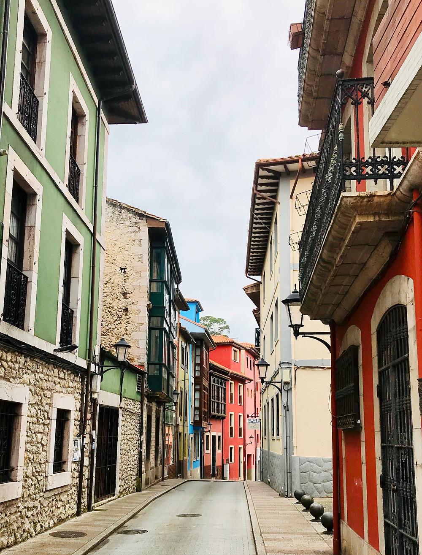 pretty side street in LLanes Spain