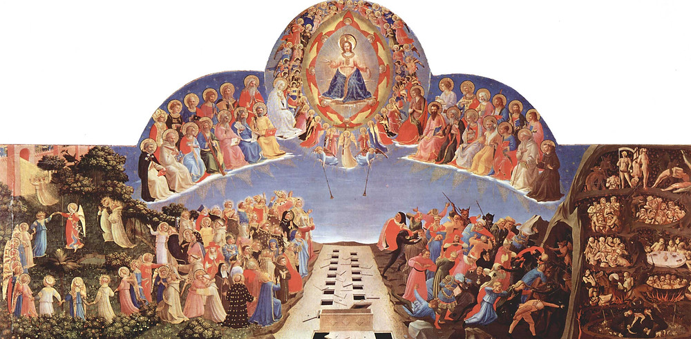 Fra Angelico, The Last Judgment, 1425 -- in the Hospital Room