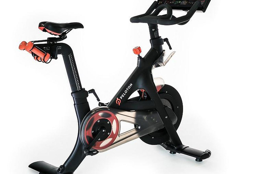 the peloton bike that has now taken up residence in our workout room