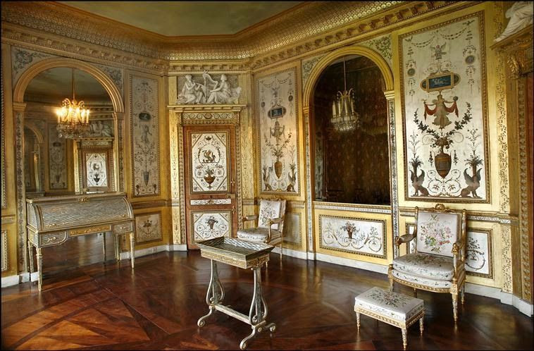 Marie Antoinette's Silver Bedroom in Fontainbleau