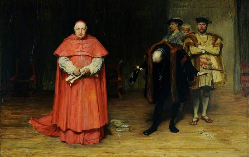 John Pettie, The Disgrace of Wolsey, 1869