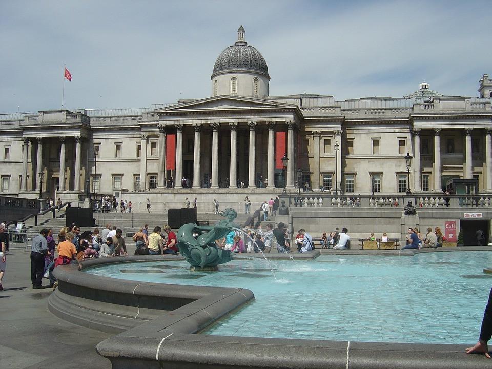 the National Gallery on Trafalgar Square