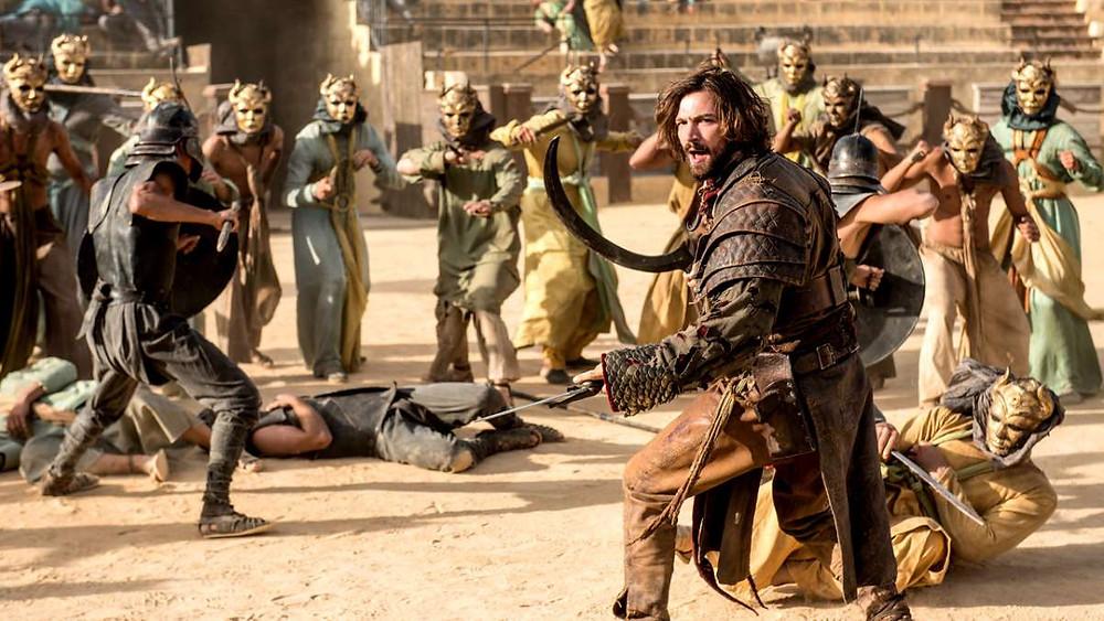 the Sons of the Harpy attack Daenerys in Season 5, filmed in Osuna's bullring