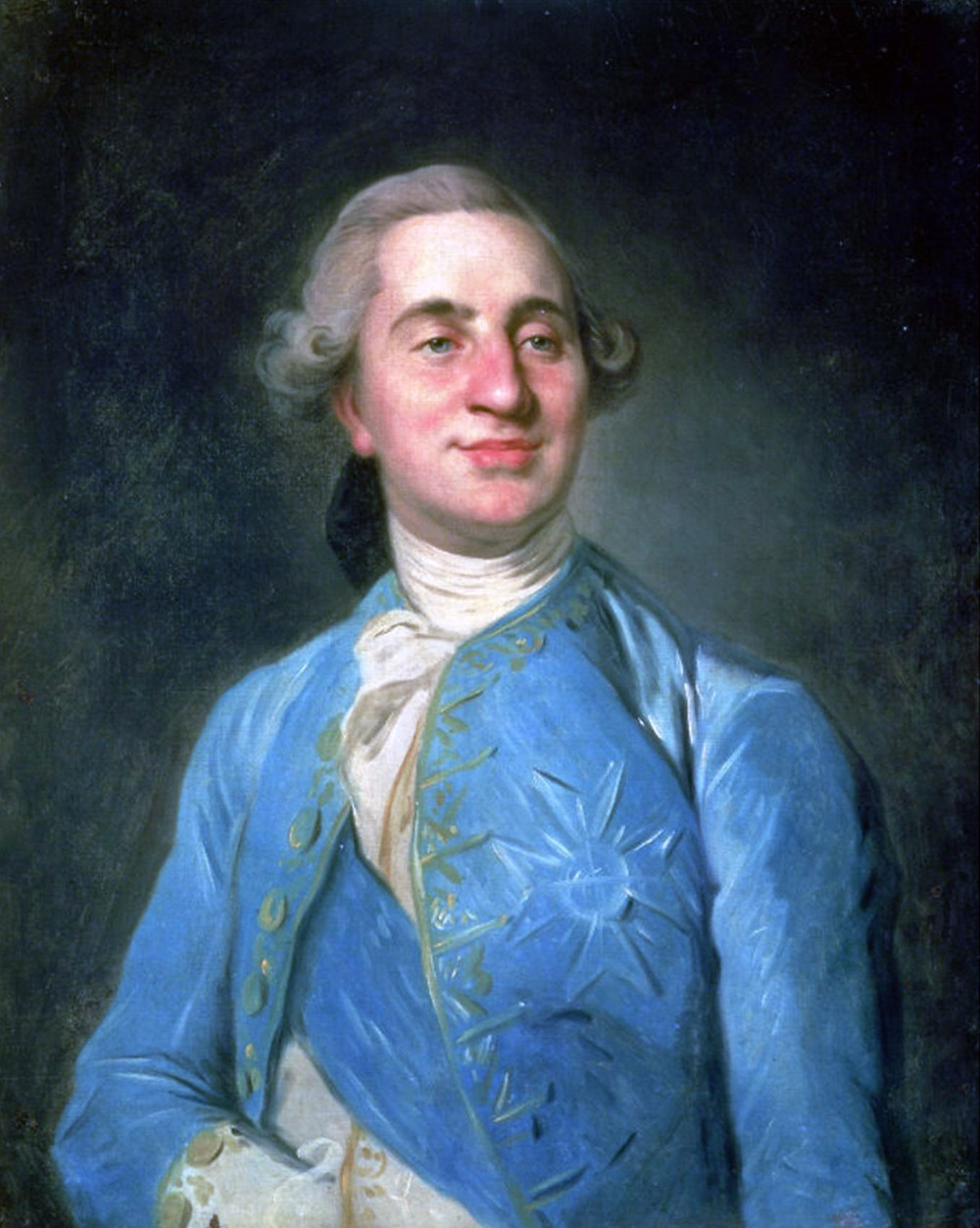 Louis XVI, looking rather smugger than his reputation