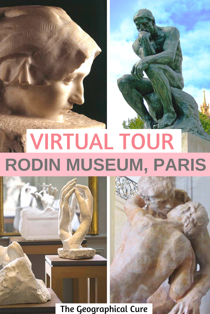 guide and virtual tour of the Rodin Museum in Paris