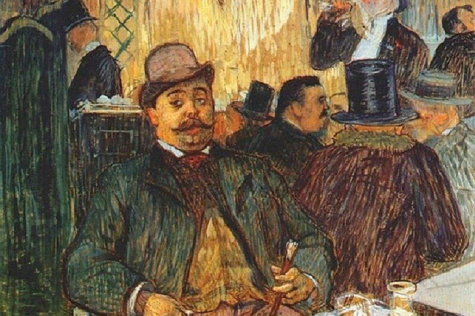Toulouse-Lautrec painting in the Musee Montmartre