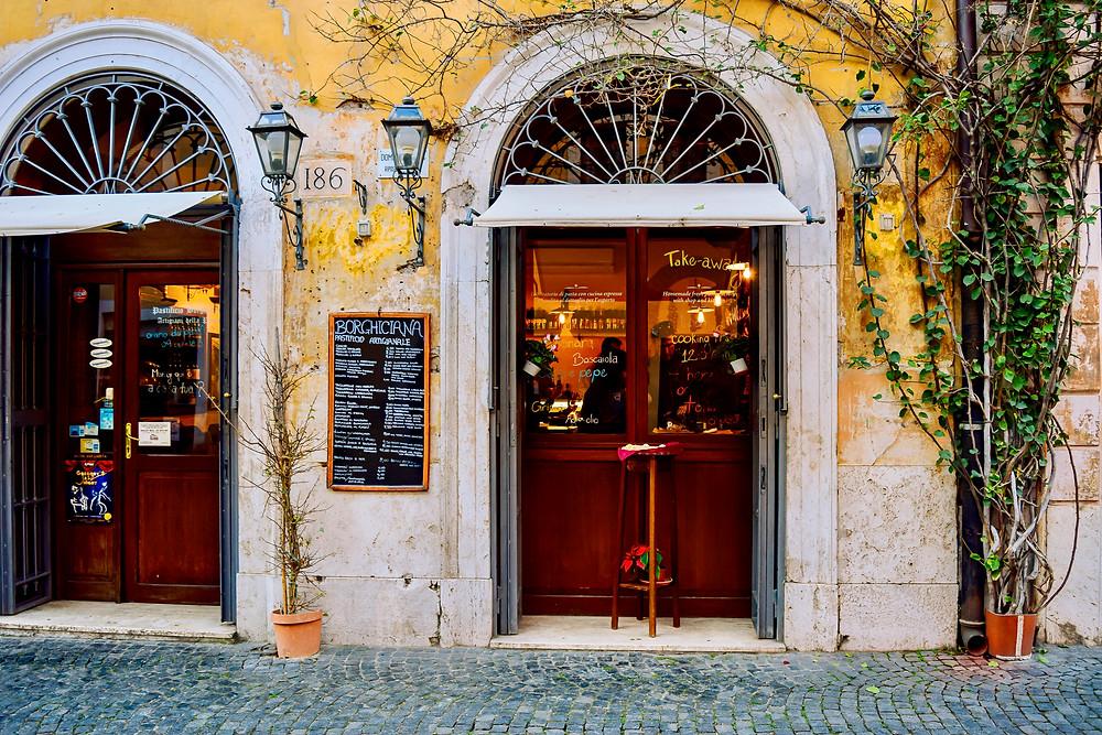 the excellent Italian restaurant Borghiciano