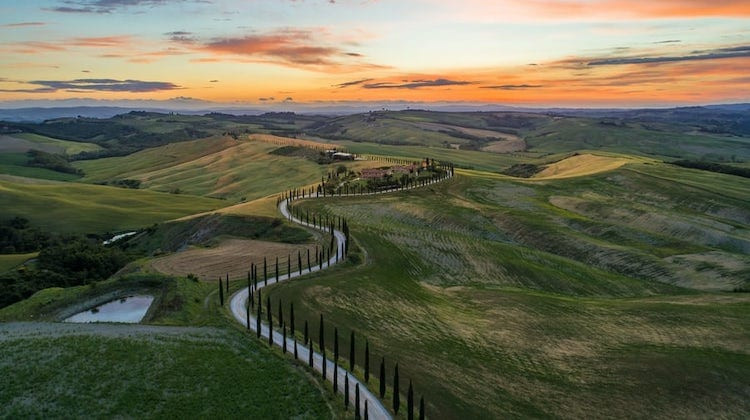 Val d'Orcia region of Tuscany