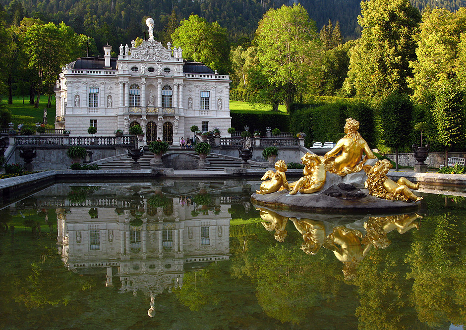 Mad King Ludwig's Linderhof Palace in Bavaria