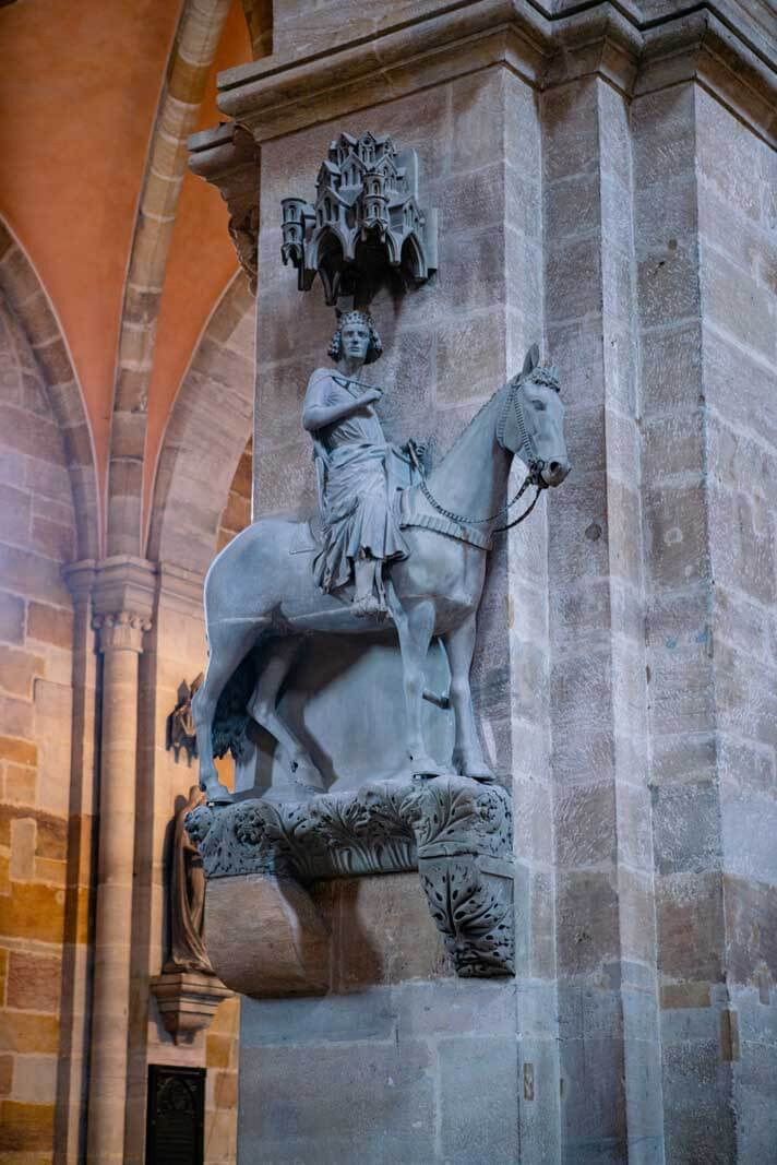the Bamberg Horseman in Bamberg Cathedral