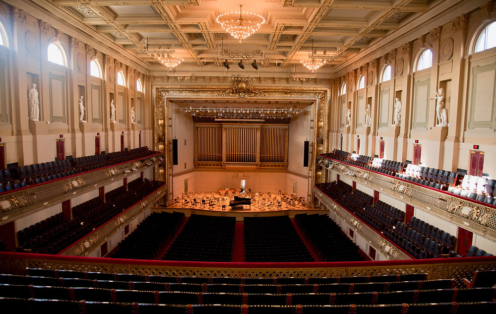 Boston Symphony Hall in the Back Bay