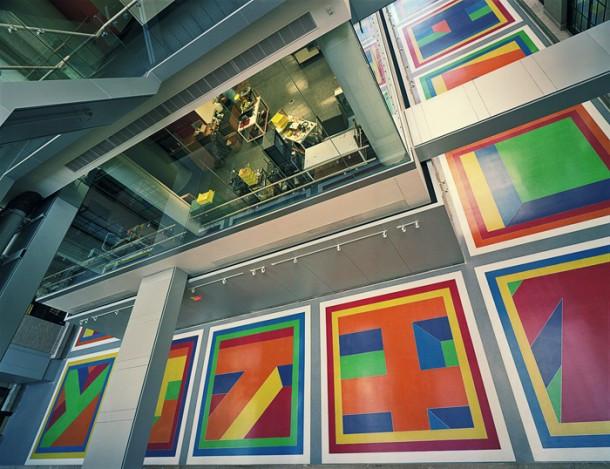Sol LeWitt floor mural in the Green Center