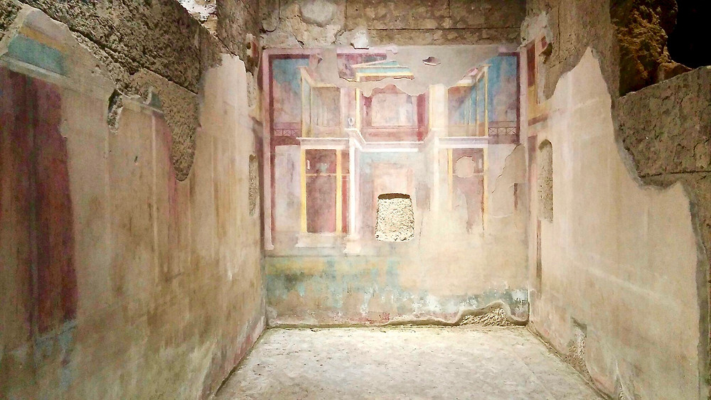 frescos in the Room of Perspective Paintings
