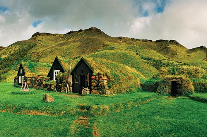 an elf house in Iceland