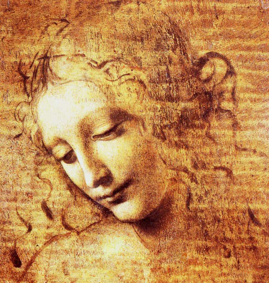 Leonardo da Vinci, Head of a Woman aka La Scapigliata, circa 1500