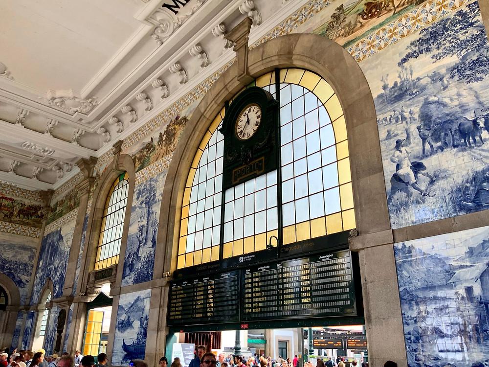 azulejo murals at São Bento train station