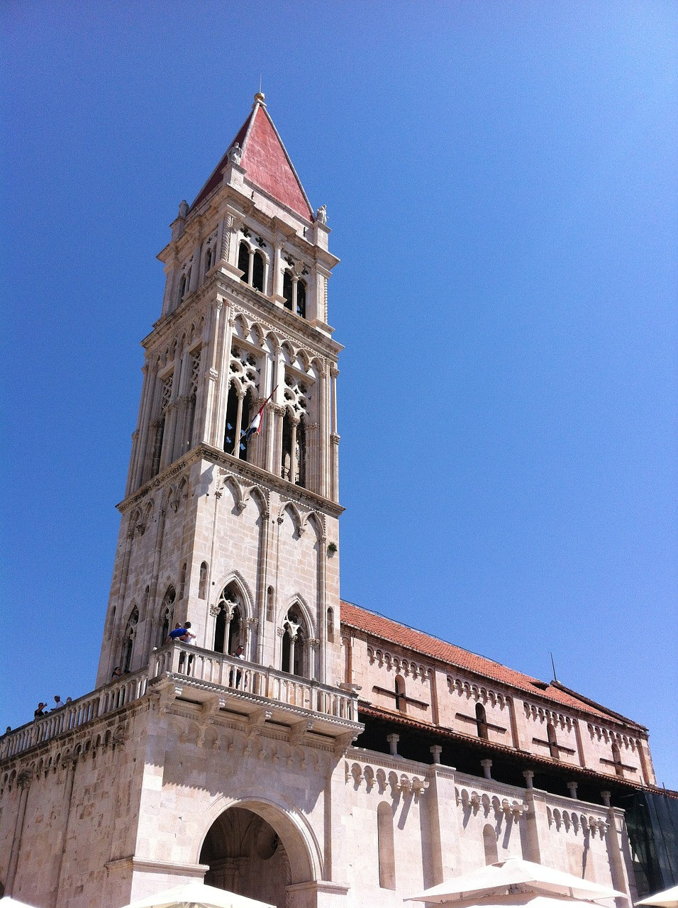 the UNESCO-listed Trogir Cathedral, with Venetian style architecture