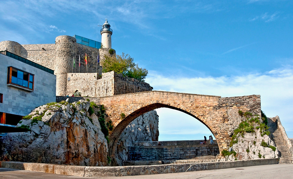 ogival bridge in Castro Urdiales