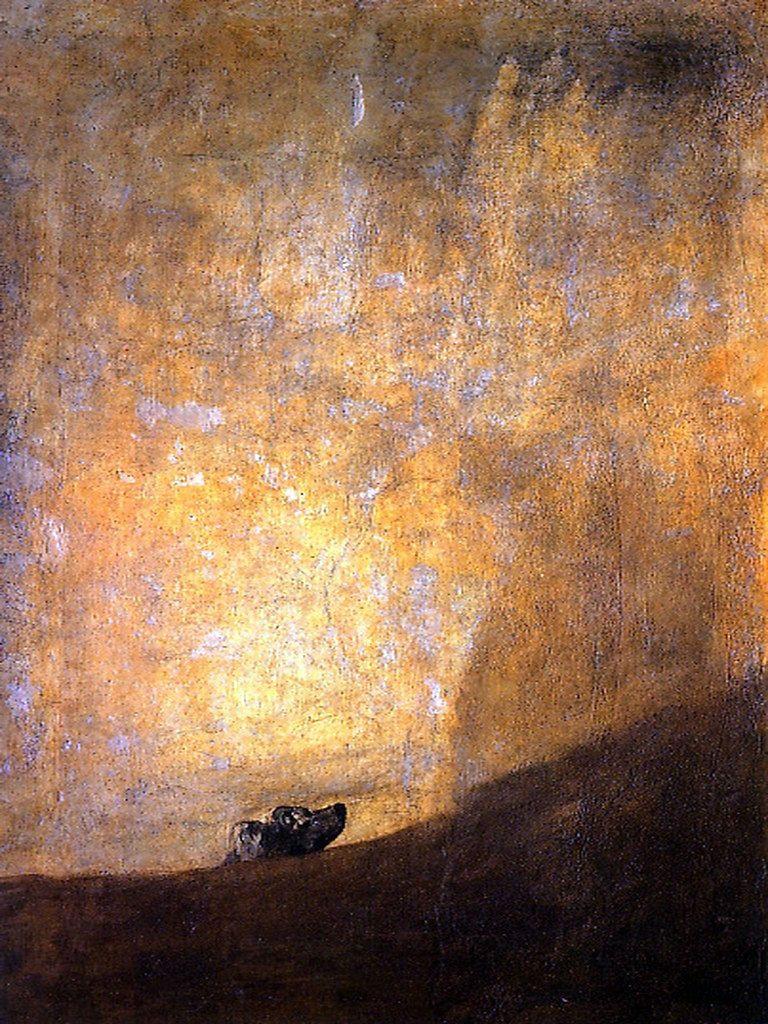 Francisco Goya, The Drowning Dog, 1819-23