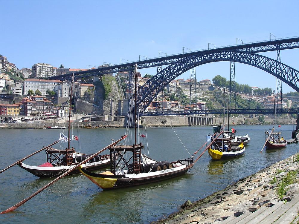 view of Dom Luis I from Vila Nova de Gaia