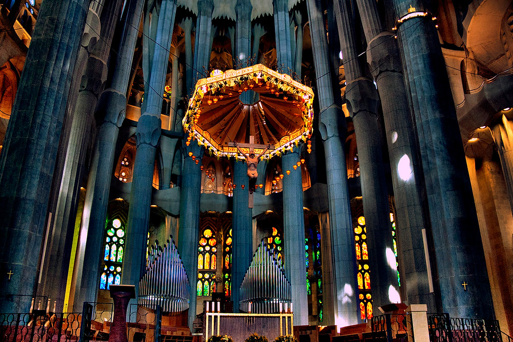the high altar of the Sagrada Familia