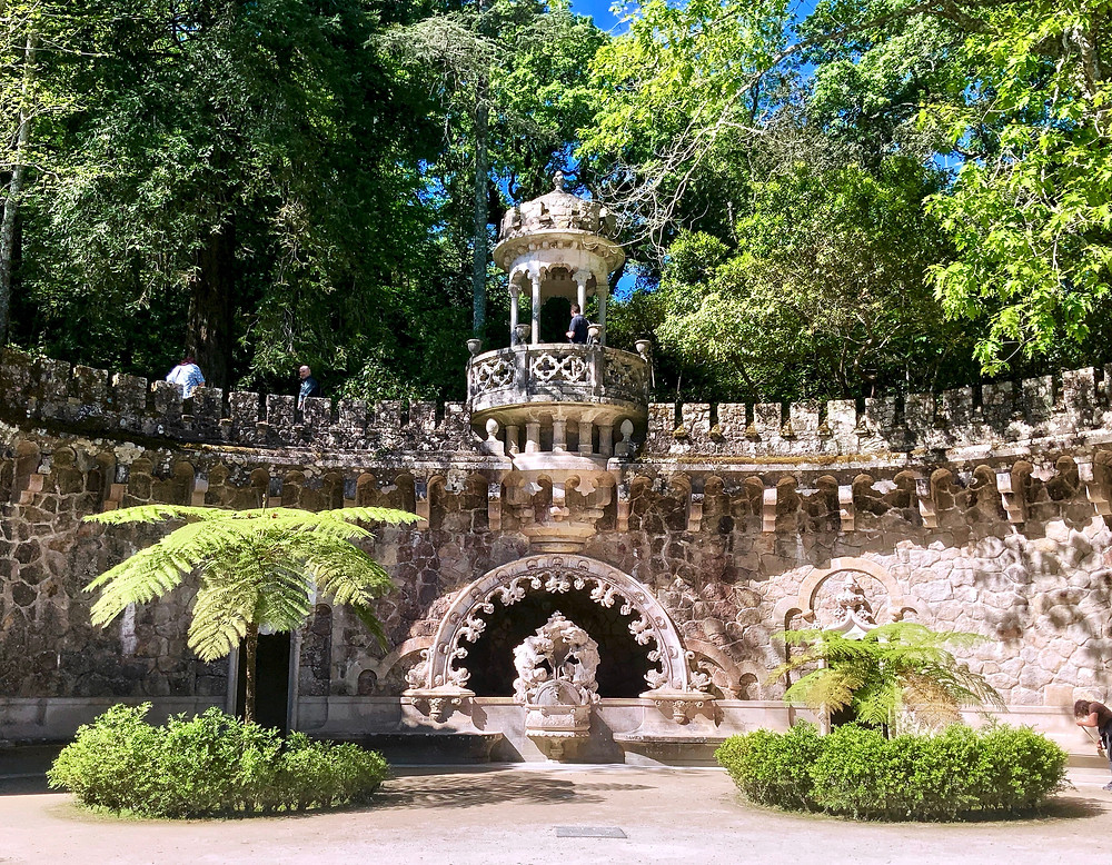 Gate of the Guardians in the gardens of Quinta da Regaleira