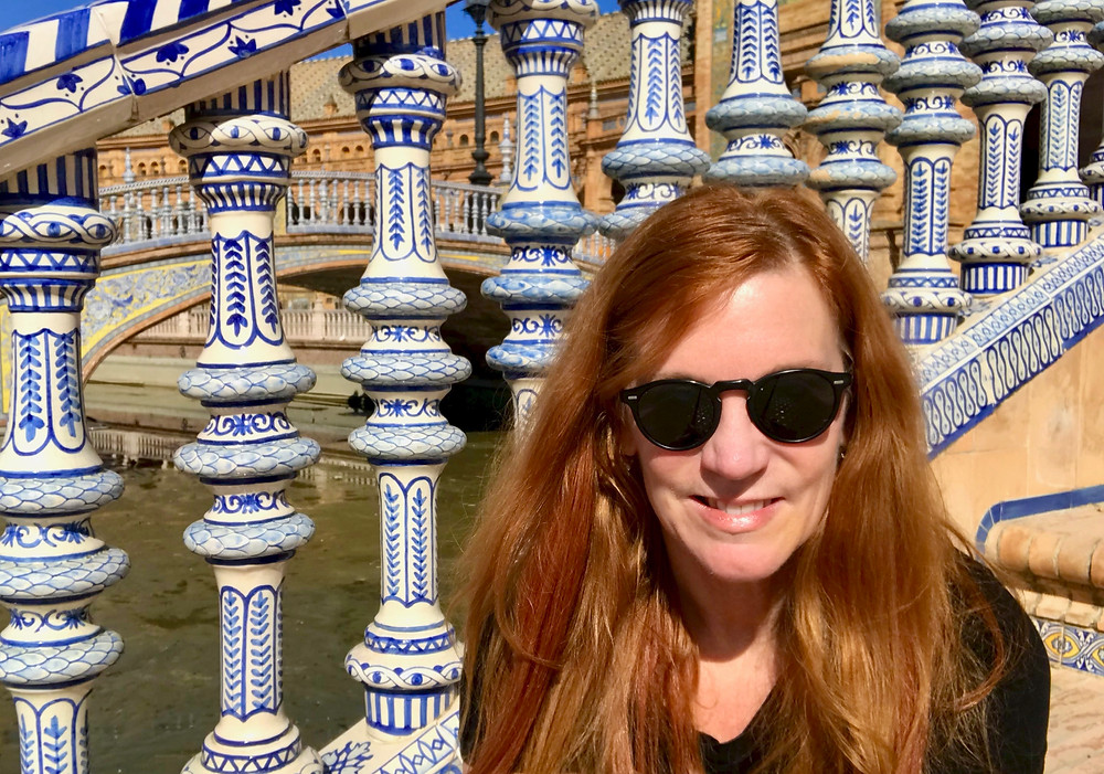 checking out the Plaza de Espana on my first day in Seville