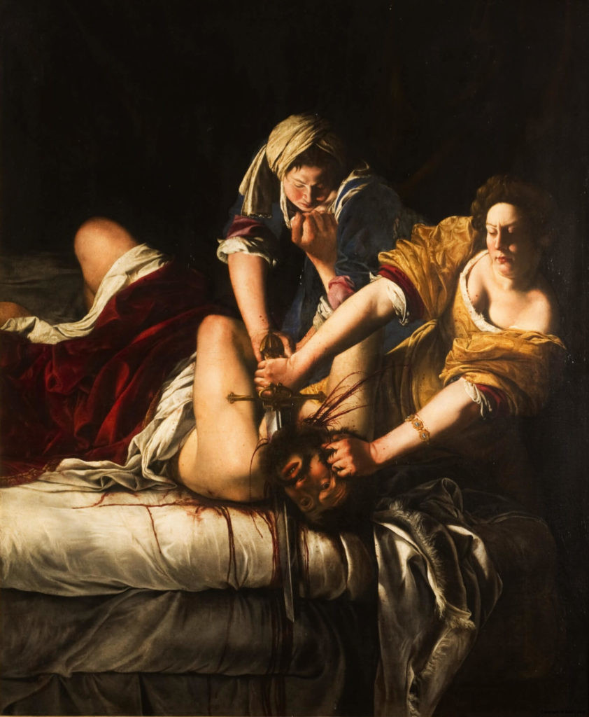 Artemisia Gentileschi, Judith Beheading Holofernes, 1613 -- in the Uffizi Gallery