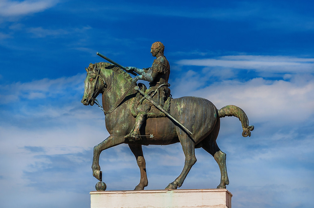 Donatello's Gattamelata, the first equestrian monument since Ancient Rome