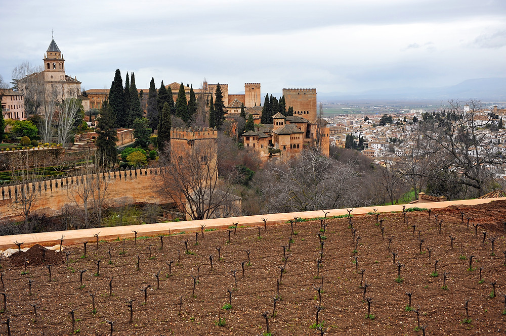 the Alhambra palace complex in Granda Spain